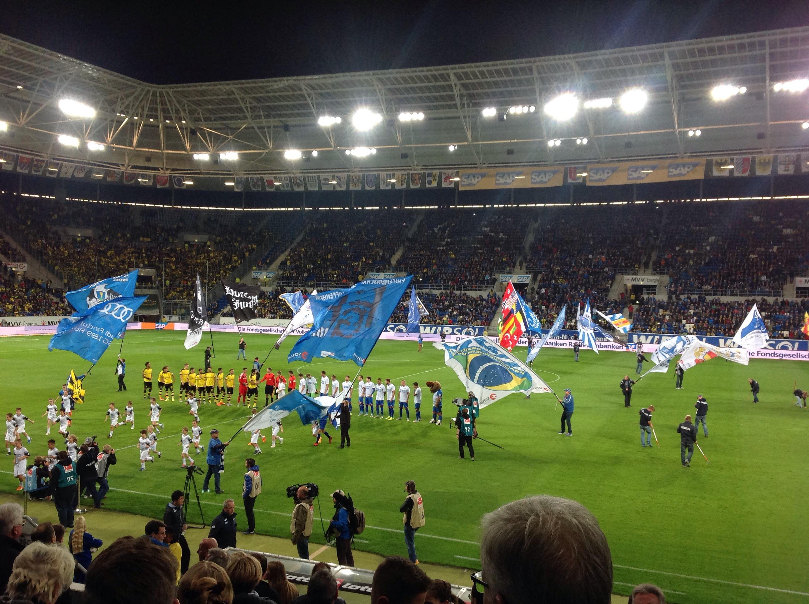 BVB und TSG Hoffenheim vor dem Anpfiff